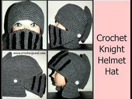 crochet pattern knight helmet free how to crochet boy s man s knight helmet hat part i crochet