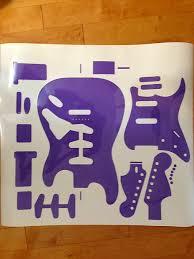 fender stratocaster 1960 template vinyl guitar making reverb