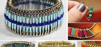 bracelet craft diy images Diy safety pins beads bracelet archives find fun art projects jpg