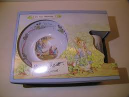 wedgwood rabbit wedgwood rabbit 3 boxed christening set beatrix