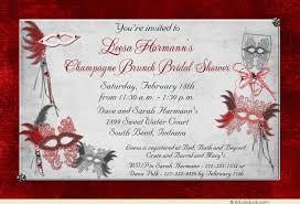 bridal shower invitations brunch masquerade bridal shower invitation purple mardi gras