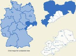 map of regions of germany the german erzgebirge