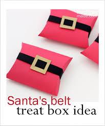 christmas gift card boxes santa s belt treat box rosyscription
