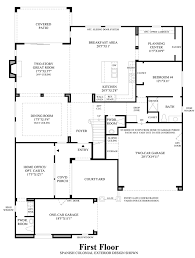 altura the provenza home design 1st floor floor plan