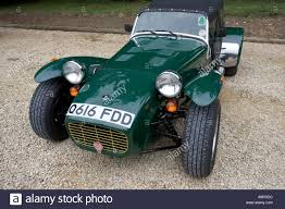 british racing green super seven sports car in british racing green stock photo