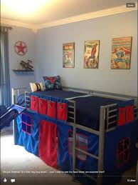 boys super hero loft bedroom junior fantasy loft bed with slide