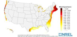 Wind Map Usa by Computing America U0027s Offshore Wind Energy Potential Department Of