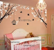 Wall Decals Baby Nursery Vinyl Wall Decals Trees Wall Sticker Baby Nursery Children