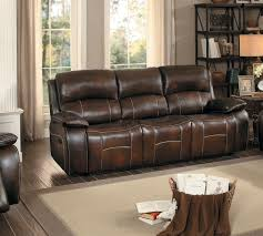 sofa match homelegance mahala double reclining sofa brown top grain leather