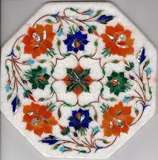 Floral Home Decor Marble Inlay Art Handmade 8 U2033 Parchin Kari Floral Mosaic Home Decor