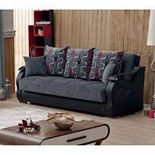 amazon sofa bed with storage amazon com beyan arizona collection upholstered convertible folding