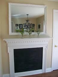 sixty fifth avenue mirror mantel u0026 chalkboard paint