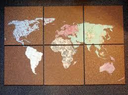World Map Cork Board by World Map Cork Board World Map Bulletin Board Set Home World Map