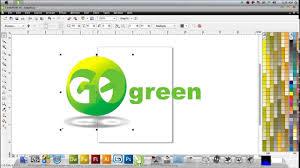 membuat poster dengan corel draw x7 tutorial coreldraw membuat logo go green by suhendra fajrianor youtube