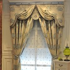 Window Curtains Ideal Picture Window Curtains Of Jacquard Design Style