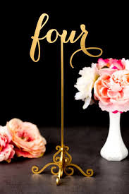 gold wedding table numbers gold wedding table numbers freestanding with base soirée