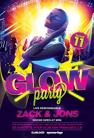 glow party the uv glow party flyer template awesomeflyer