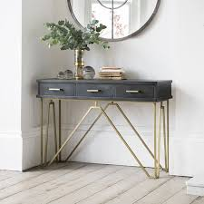 Hallway Console Table And Mirror Brilliant Console Table In Solid Oak Tables Light Rustic