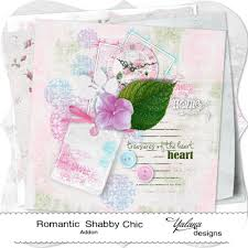 free scrapbook mini kit u201cromantic shabby chic u201d by yalana designs