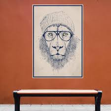 angry lion wall sticker decal by andreas preis cool hipster lion wall decal sticker by balazs solti