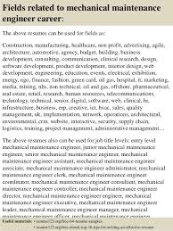 Resume Sample Of Mechanical Engineer Top 8 Mechanical Maintenance Engineer Resume Samples