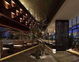 Dark Dining Room Dark Dining Hall With Trees As Decor 3d Model Cgtrader