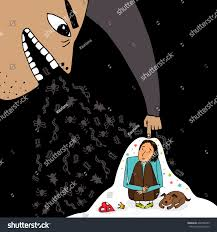 Bad Man Illustration About Pressure On Person Bad Stock Vector 648786499