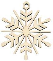 birch and cedar wood ornaments created using laser engraving methods