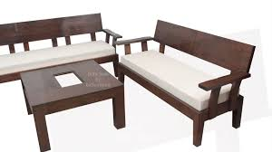 stylish looking wooden sofa set for your living room made to