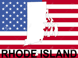 Map Of Ri Map Of Rhode Island On American Flag Illustration Stock Photo