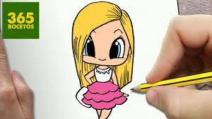 imagenes de monitas kawaii como dibujar barbie kawaii paso a paso dibujos kawaii faciles