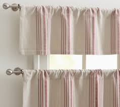 Sewing Cafe Curtains French Stripe Cafe Curtain Traditional Curtains Pottery Barn