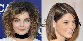 same haircut straight and curly short bob haircut straight curly medium hair hairstyles