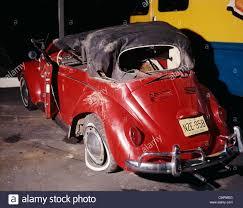 volkswagen beetle 1960 1960 1960s red volkswagen bug beetle convertible car wreck crash