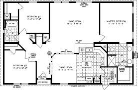 3 Bedroom 2 Bath Mobile Home Floor Plans The Tnr 44810w Manufactured Home Floor Plan Jacobsen Homes