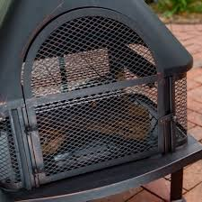 outdoor patio fireplace wood burning fire pit chiminea deck