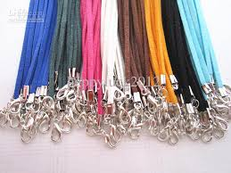 necklace cord with clasp images Online cheap 3mm 18 20inch adjustable assorted color suede leather jpg