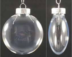 pack of 10 80mm clear plastic flat disc ornaments