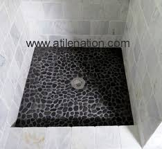 black pebble floor in shower carpet vidalondon