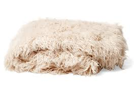 Faux Fur Blankets And Throws Mongolian Fur Throw In Pearl Tourance Com
