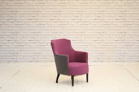 Armchair Upholstered A Gorgeous Tub Chair Armchair Upholstered In Purple Cotton