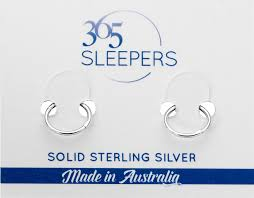 nickel free earrings australia 1 pair 365 sleepers solid sterling silver 8mm hinged hoop earrings