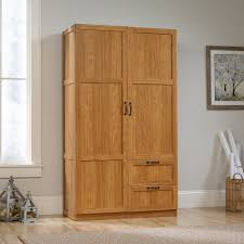 Storage Cabinet With Doors And Drawers Sauder Select Wardrobe Storage Cabinet 420063 Sauder