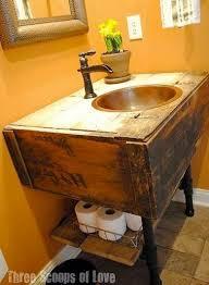 Diy Bathroom Vanities Reclaimed Industrial Vanity Bathroom Ideas Painted Furniture