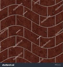 wavy brickwall texture seamless repeat pattern stock illustration
