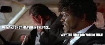 Pulp Fiction Memes - pulp fiction marvin memes quickmeme