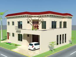 3d front elevation com 10 marla plan house design in pakistan 3d