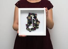 Music Note Decor Framed Quilling Wall Art Musical Note Home Decor Music Lovers