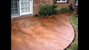 Concrete Ideas For Backyard Creative Stained Concrete Patio Decorating Ideas Youtube