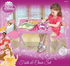 Princess Table And Chairs Childrens Folding Table And Chairs Disney Princess Kids Activity